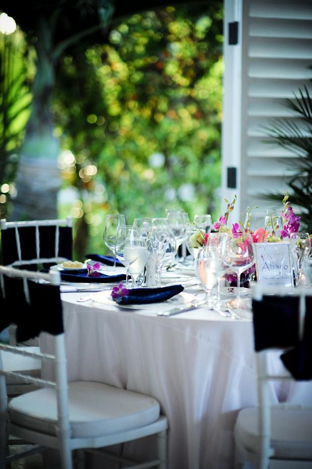 destination wedding table setting