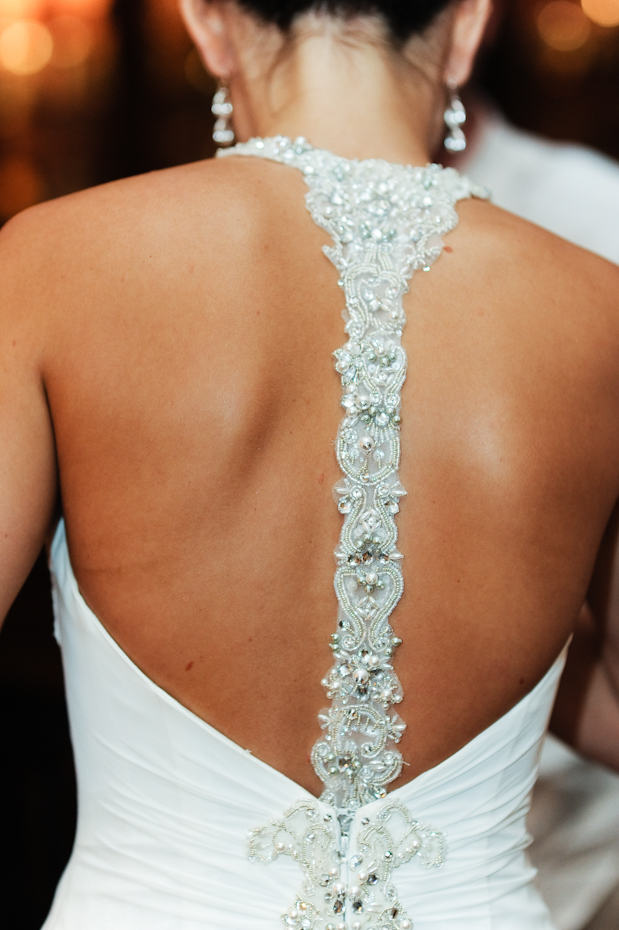 Maggie Sottero reese back dress detail