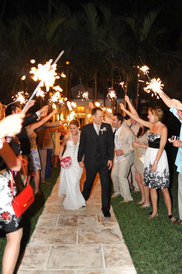 Wedding Exit at Lyford Cay Club
