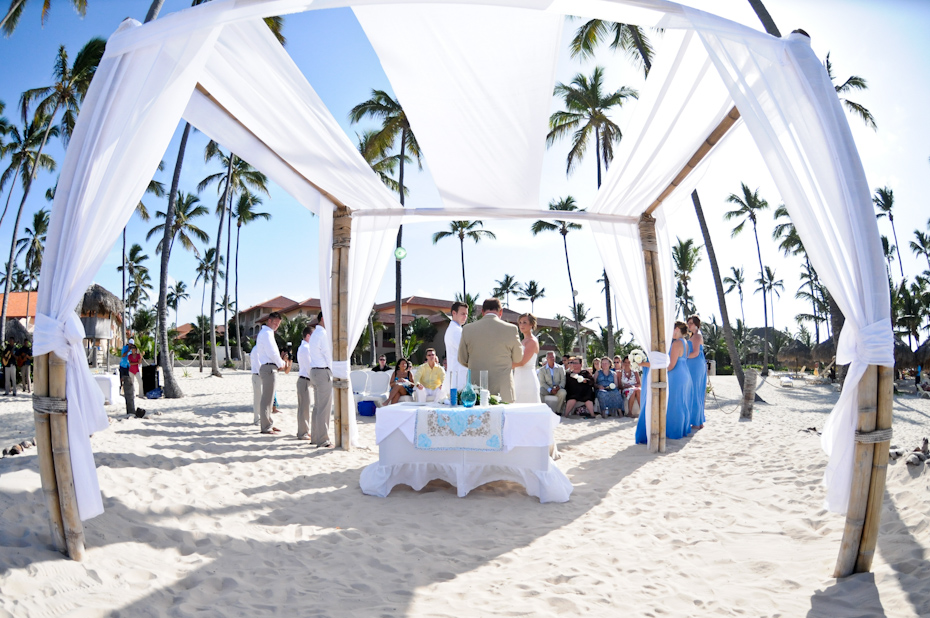 ceremony on the beach at majestic elegance punta cana