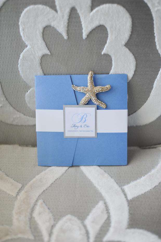 starfish destination wedding stationary