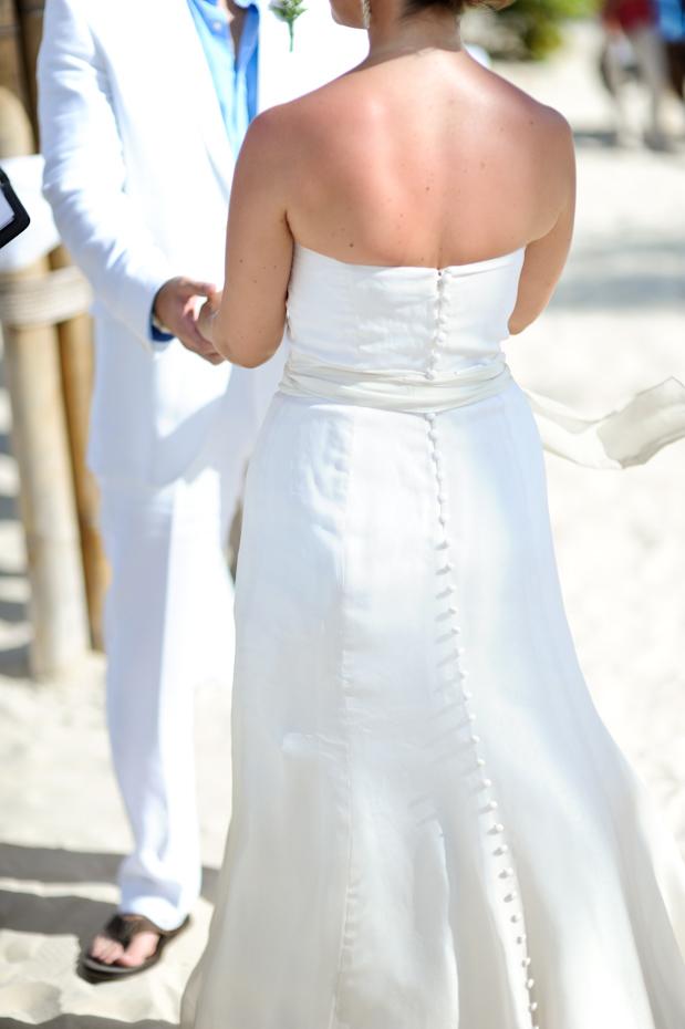 destination wedding dress with sash