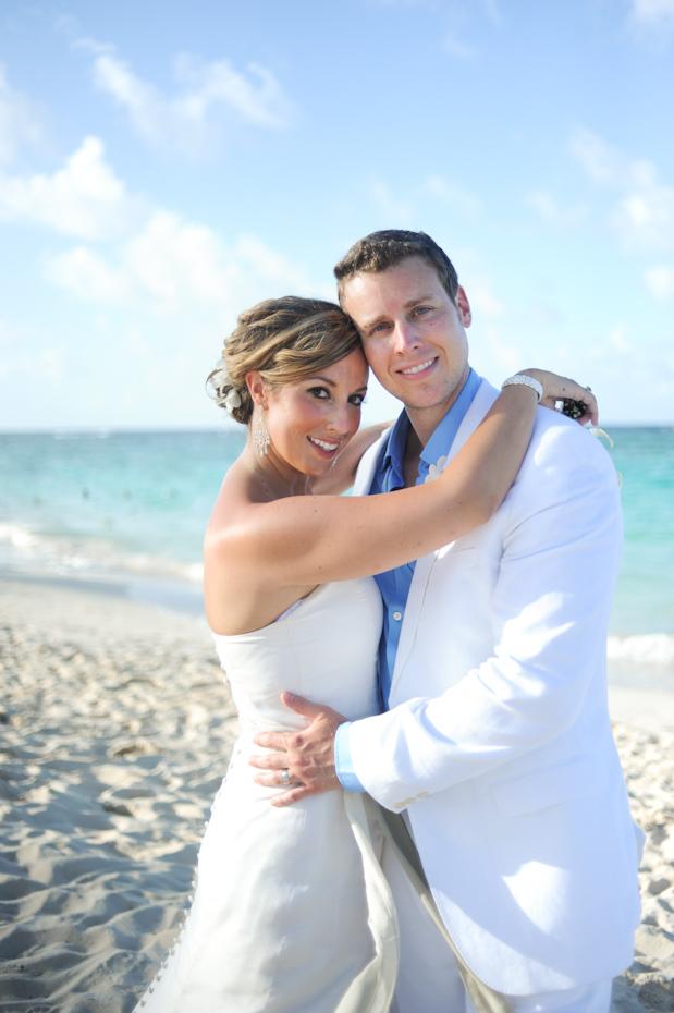 bride and groom at majestic elegance resort