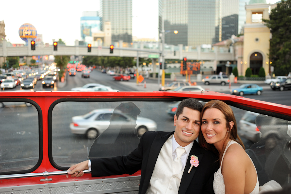 double decker bus wedding vegas