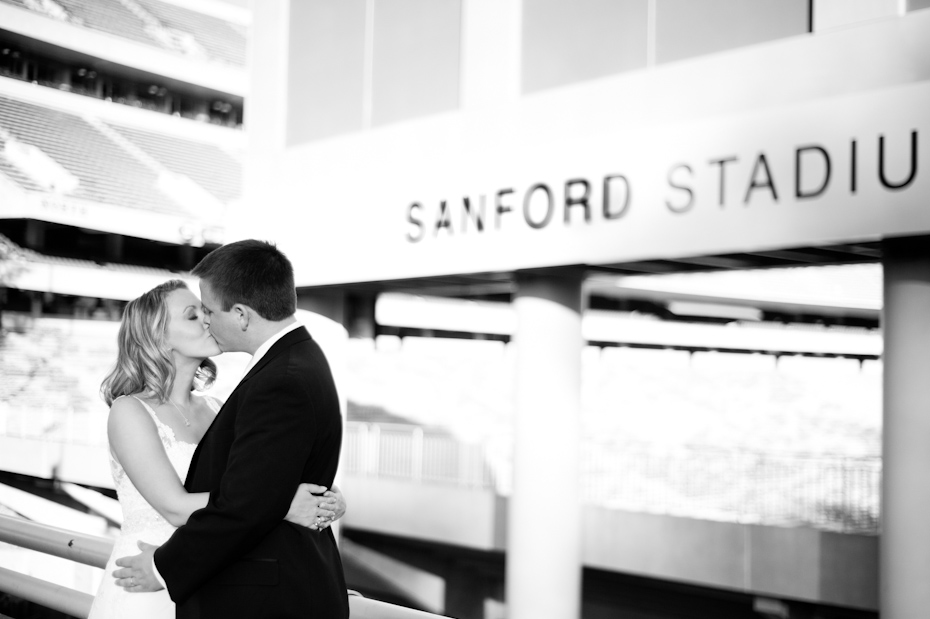 Sanford Stadium wedding picture