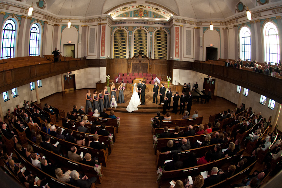 wedding ceremony picture from druid hills baptist church