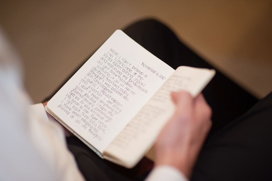 journal from bride to groom