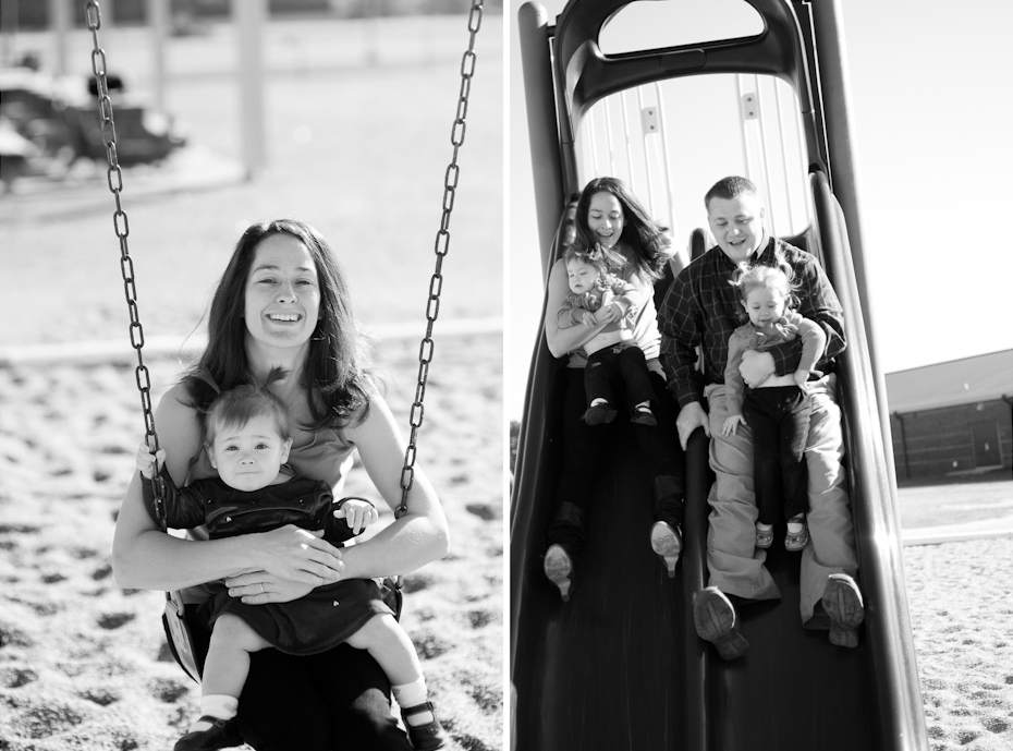 family pictures at park