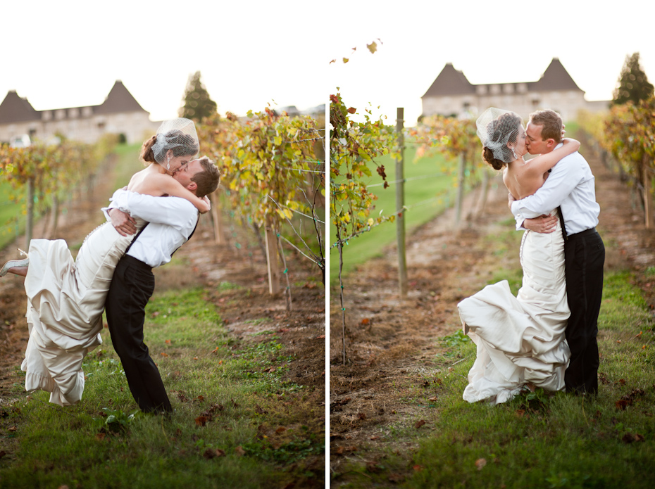 vineyard wedding picture