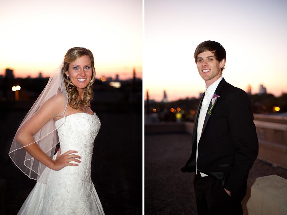 sunset wedding pictures in atlanta