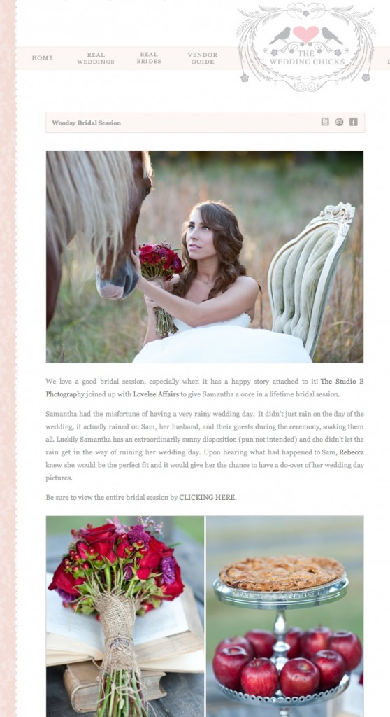 horse bridal shoot on wedding chicks