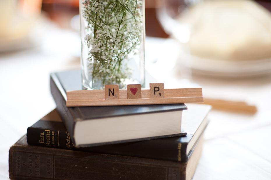 Scrabble at wedding