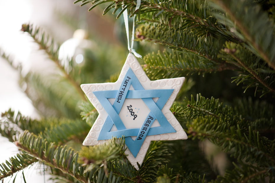 Star of David Christmas Tree Ornament