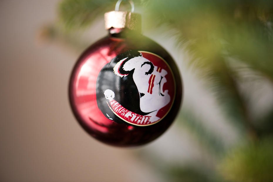 FSU Christmas ornament
