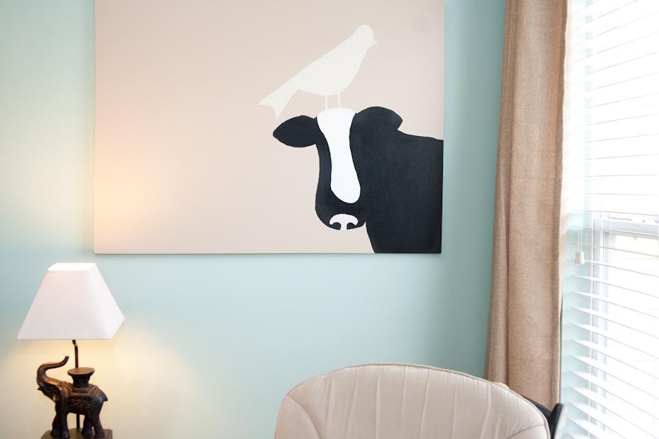 Custom artwork in baby nursery