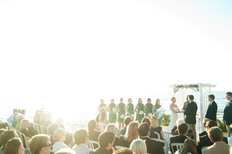 Pink shell resort wedding