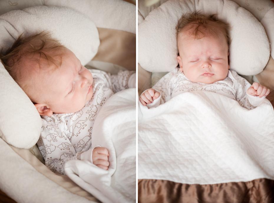 baby asleep in swing