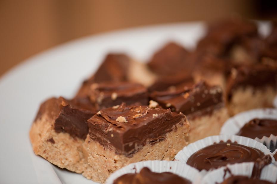 nutella peanut butter bars