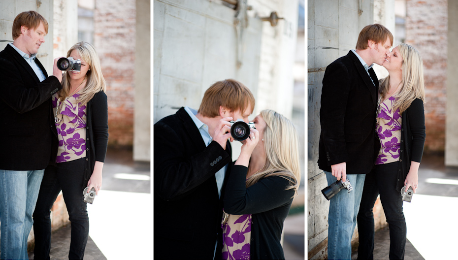 camera themed engagement session
