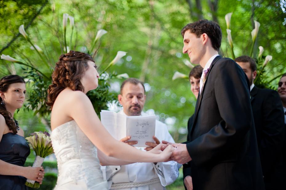 wedding ceremony at ravinia club