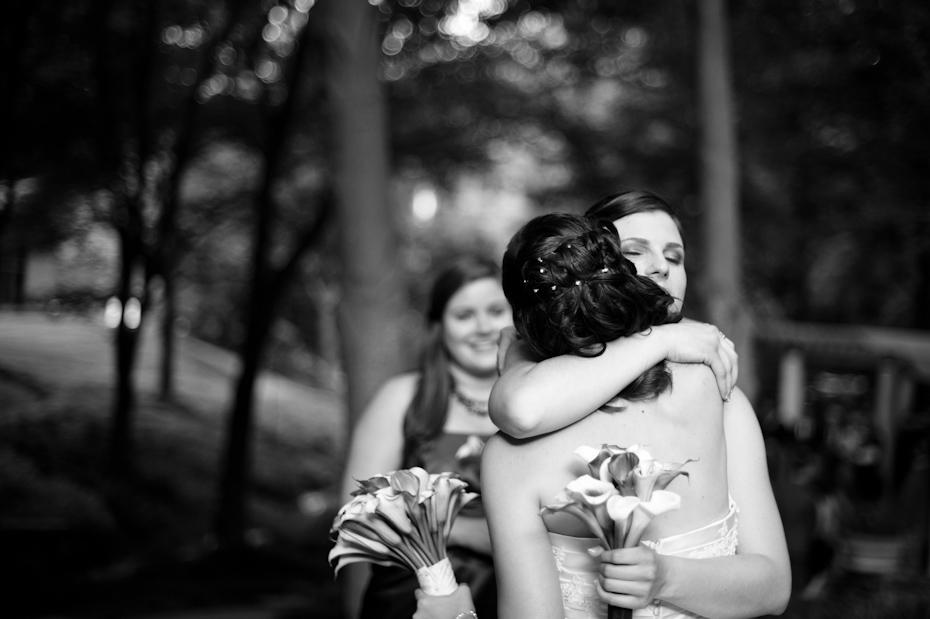 hug after wedding