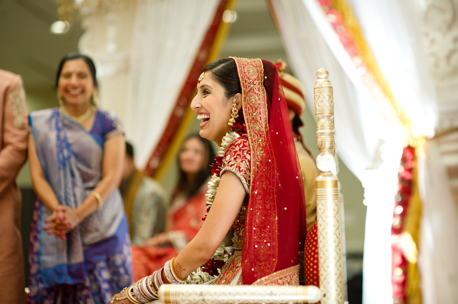Bride at Indian Wedding Ceremony