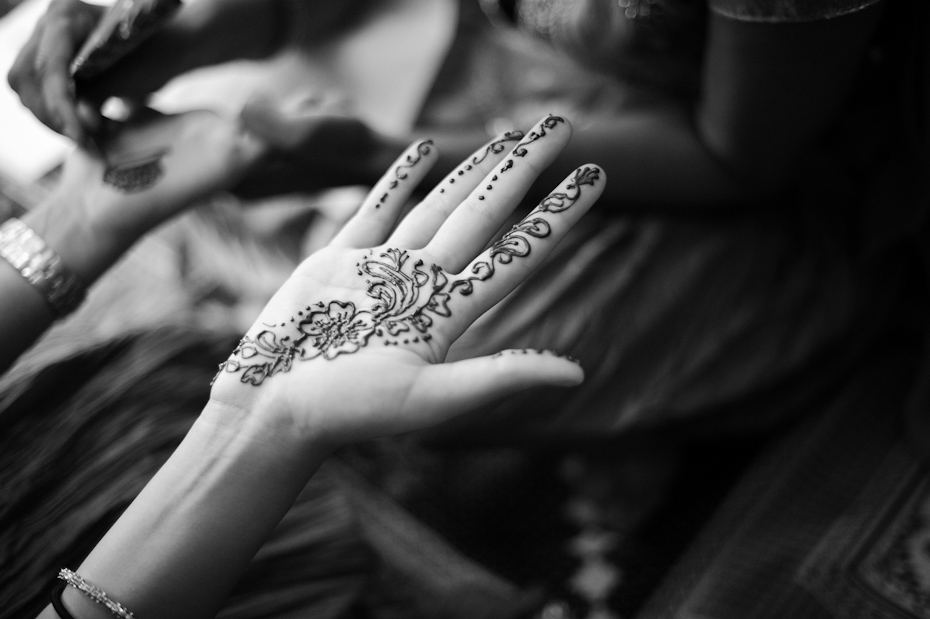 Mehndi at Indian wedding