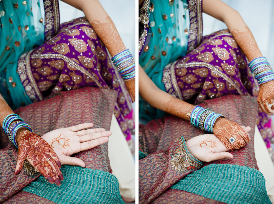 Menhdi on bride at Indian Wedding