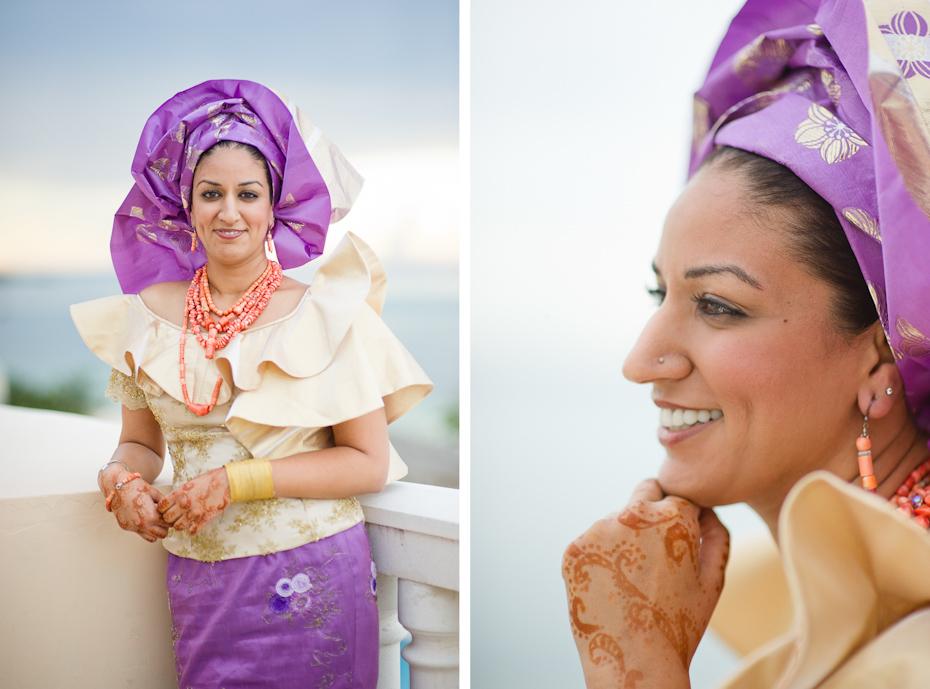 Bride in Nigerian Wedding Clothes