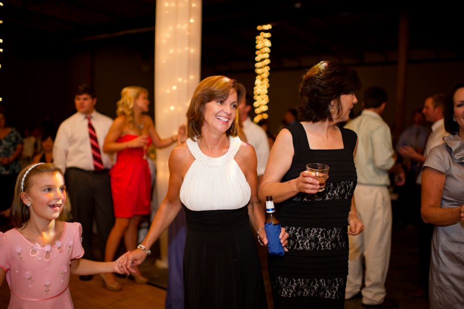 Dancing at wedding reception River Mill