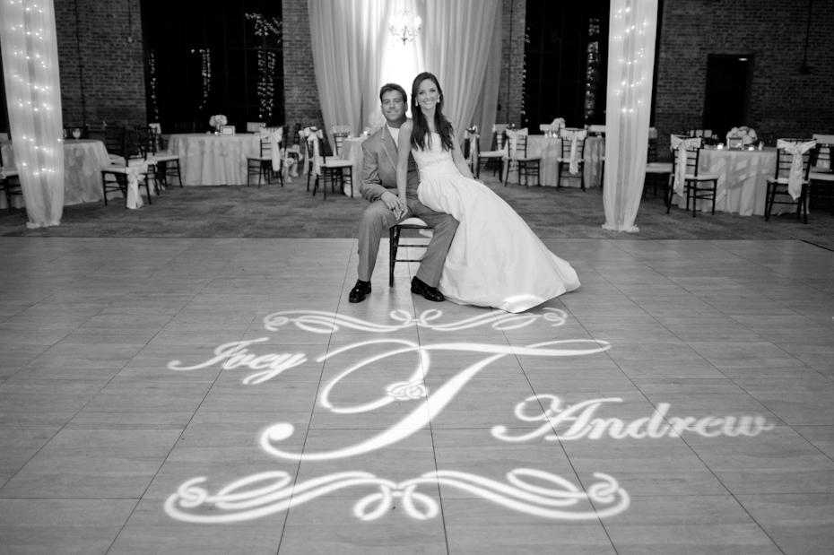 Monogram at wedding