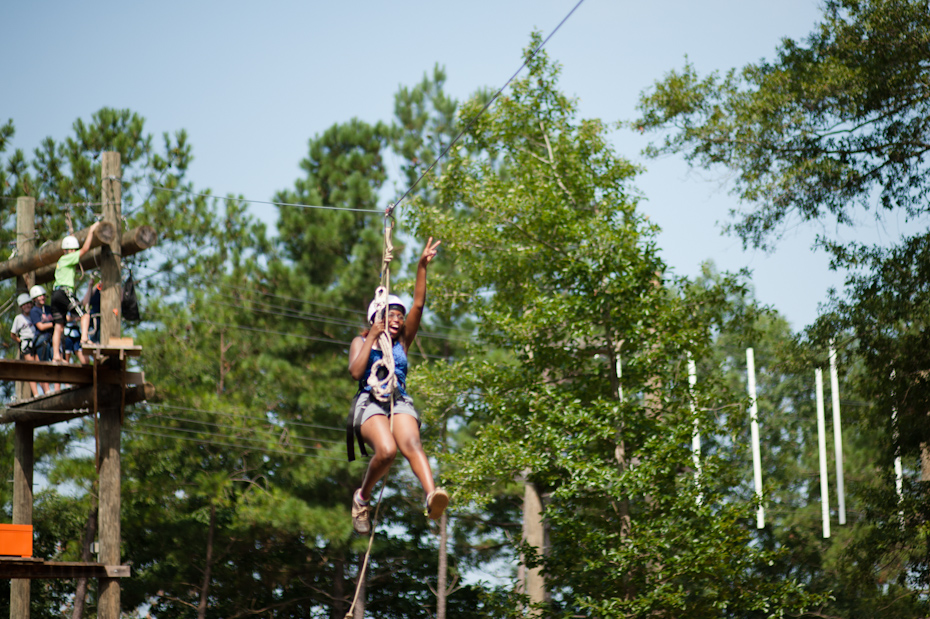 Zip Line for Kids at Camp Acheaway
