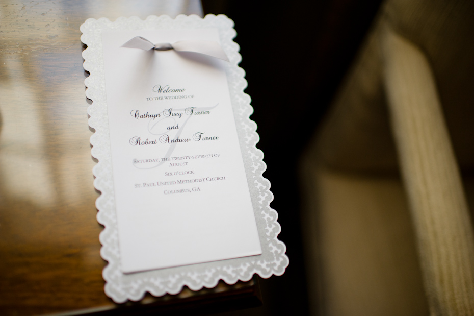 Home made wedding programs