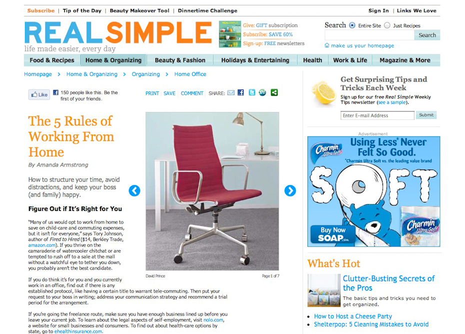 Real Simple Website Tips