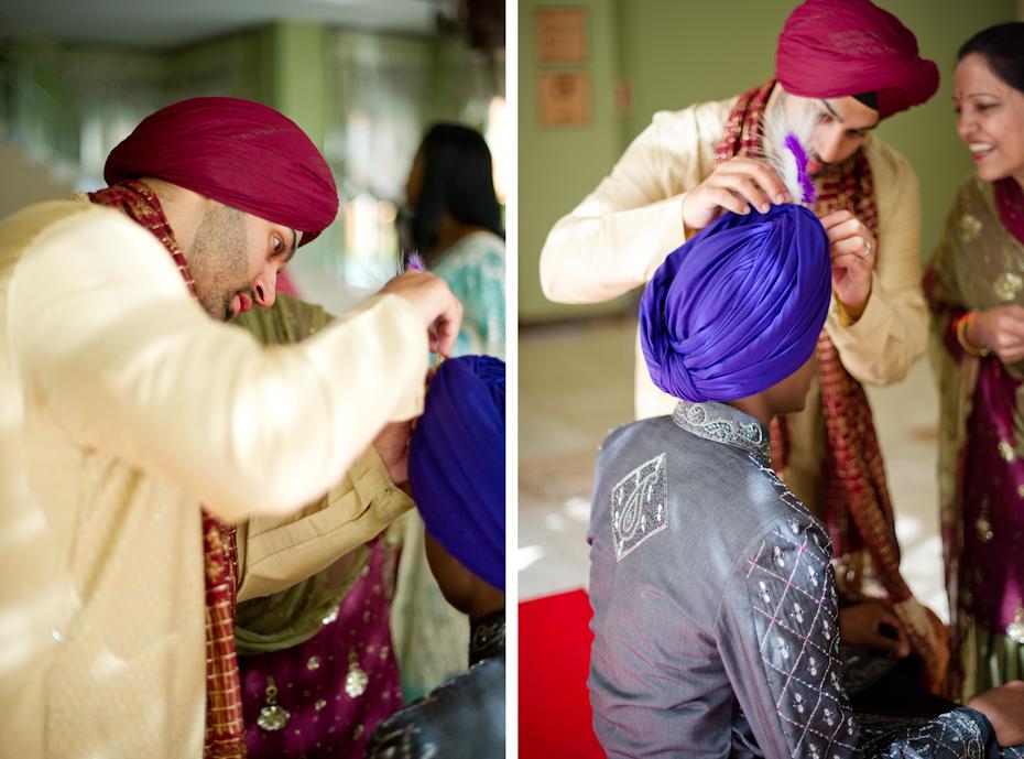 Traditional Sikh wedding attire