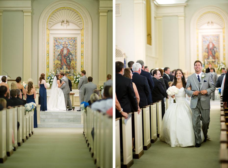 Wedding ceremony at St. Paul Methodist Columbus GA