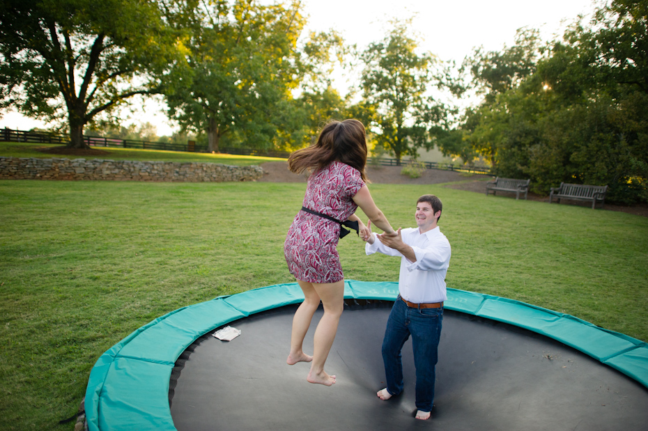 Fun engagement picture