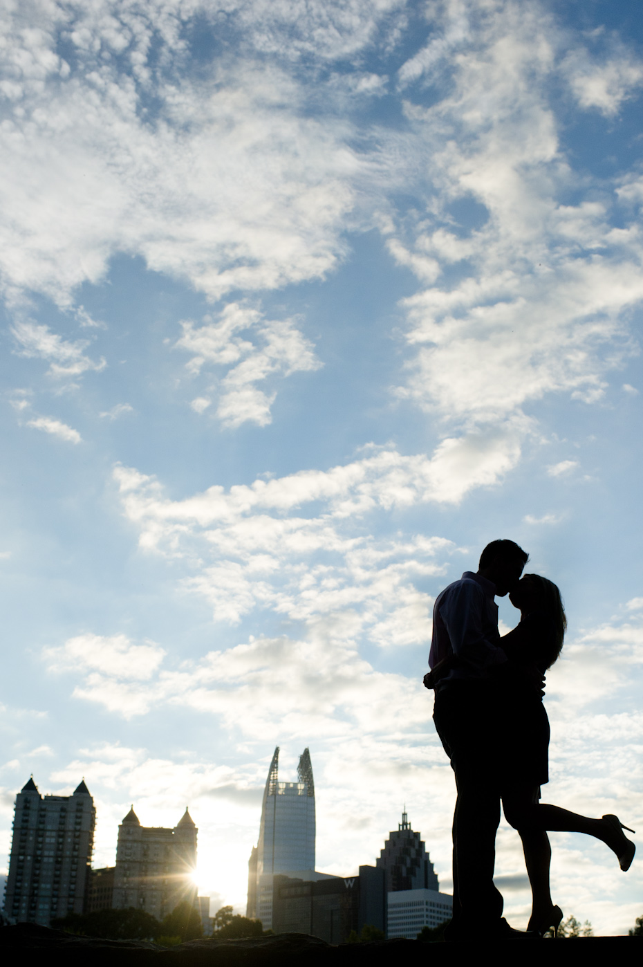 Atlanta Engagement photographer skyline