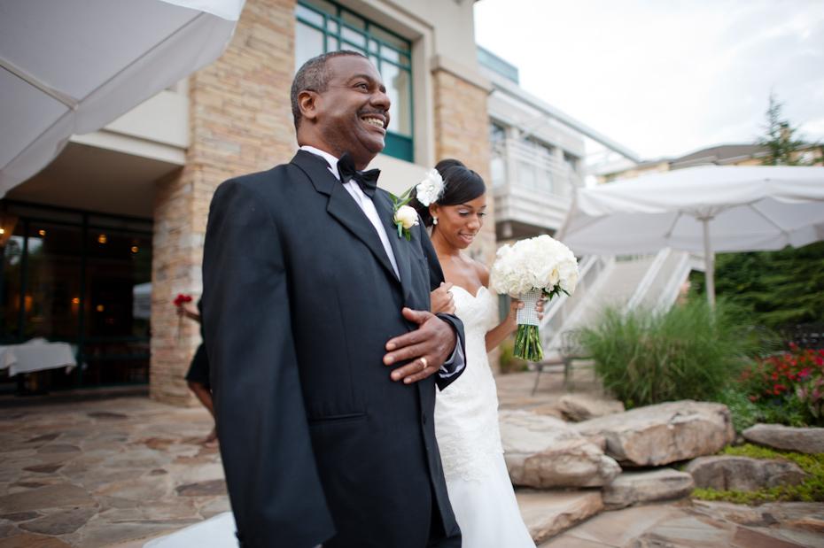 Villa Christina Wedding Ceremony outdoors