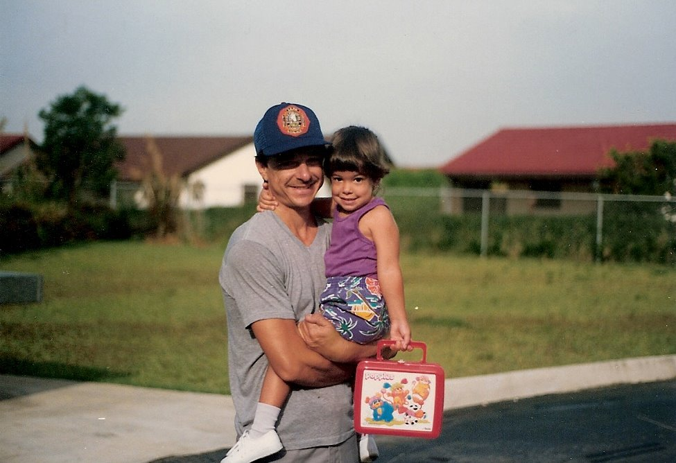 Firefighter with Daughter