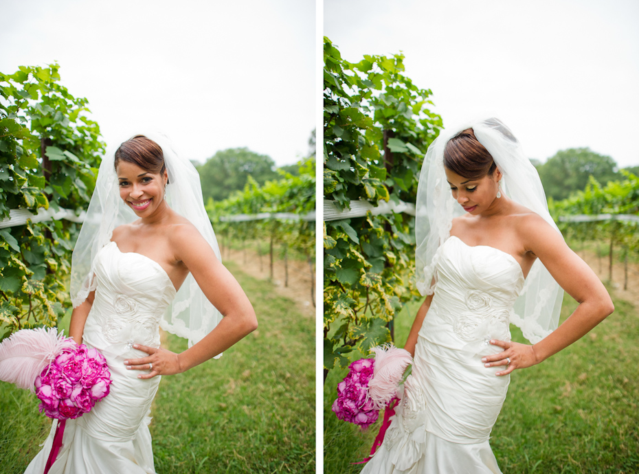 Bride with Blusher Veil