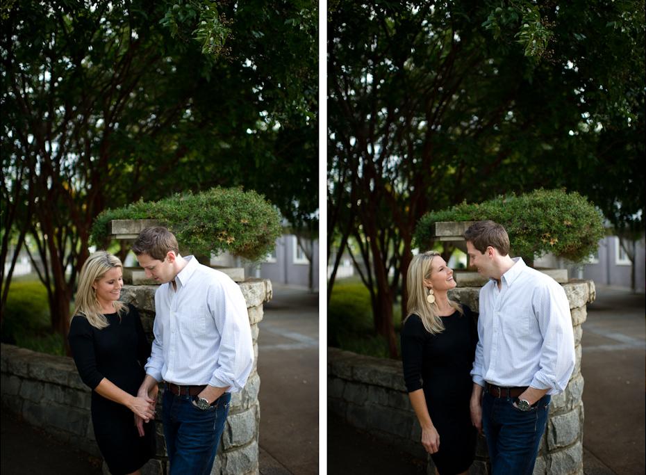 Engagement pictures in Piedmont Park