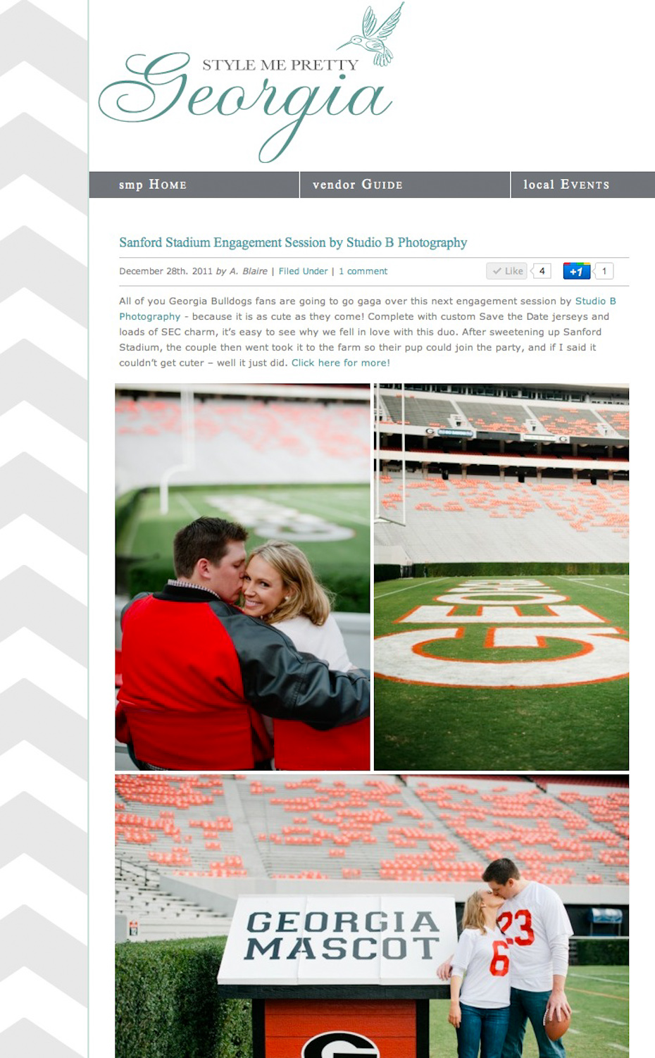 Atlanta Wedding Photographer on Style Me Pretty