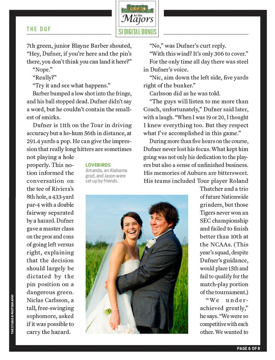 Jason Dufner Amanda Boyd Wedding