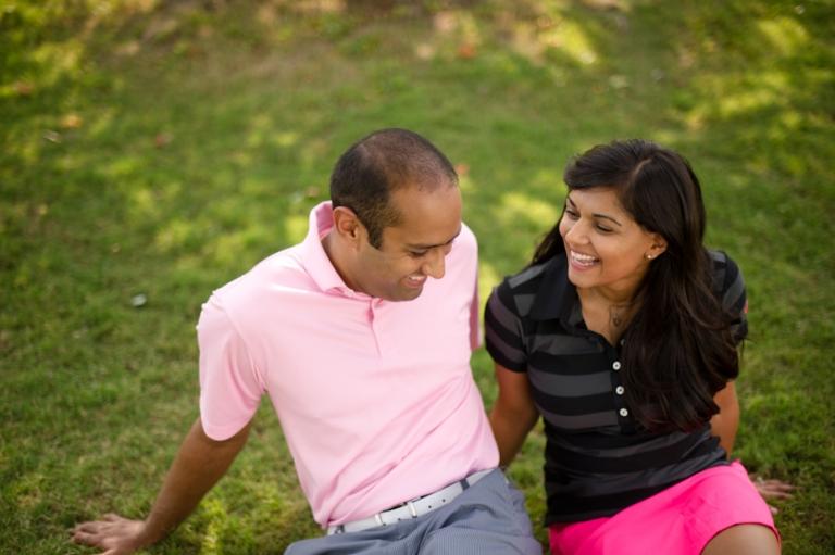 Golf Themed Engagement Pictures Nisha Anuj Atlanta Georgia