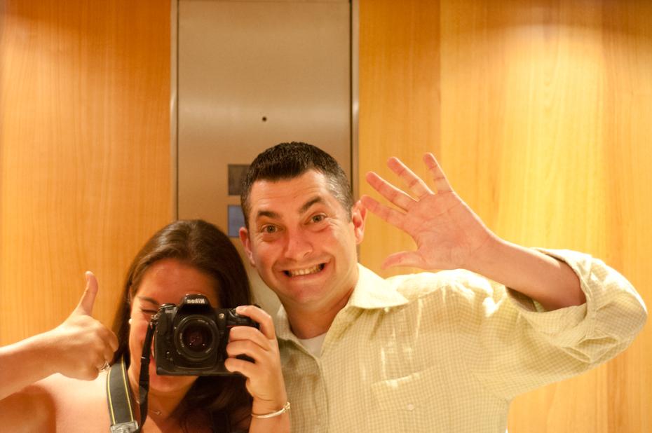 Ensleins in the elevator