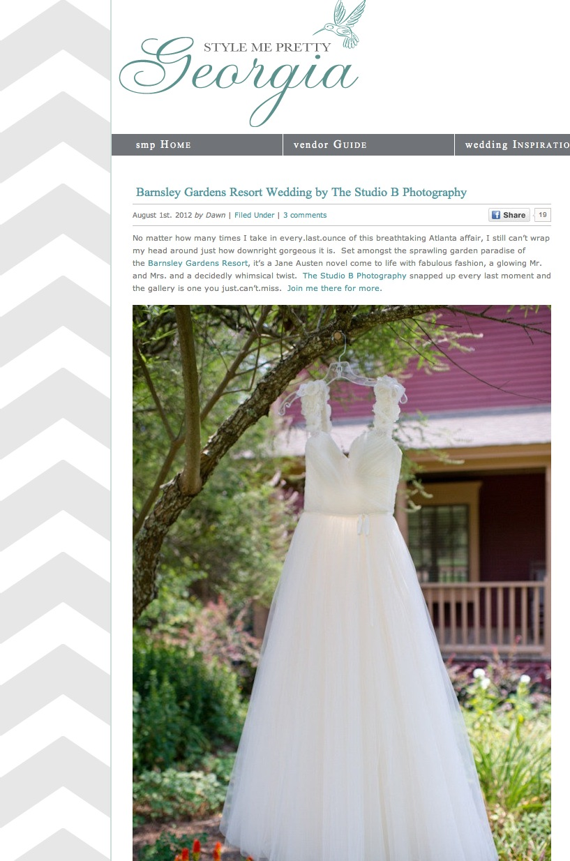 Barnsley Gardens Wedding