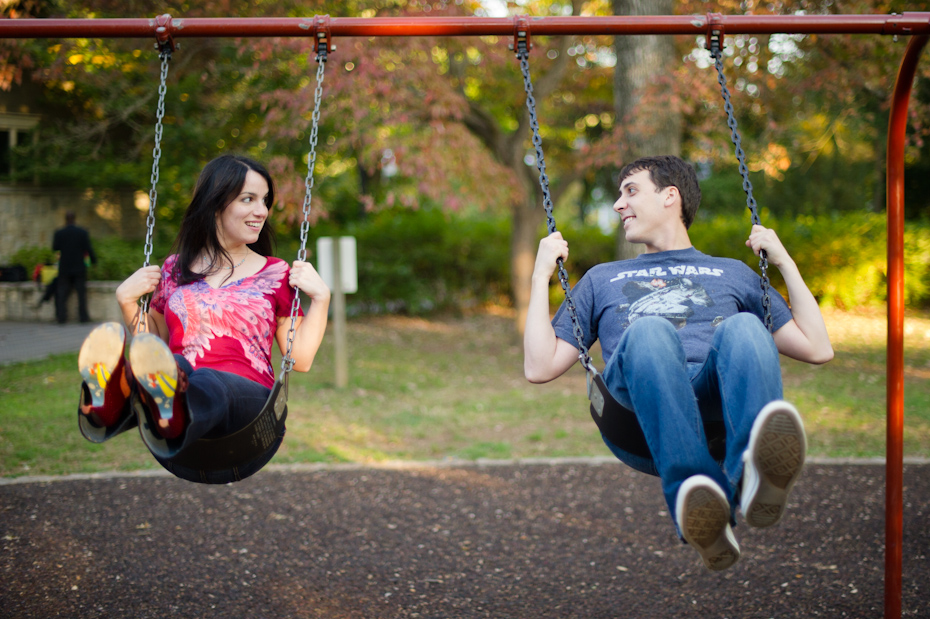 Engagement photo swing