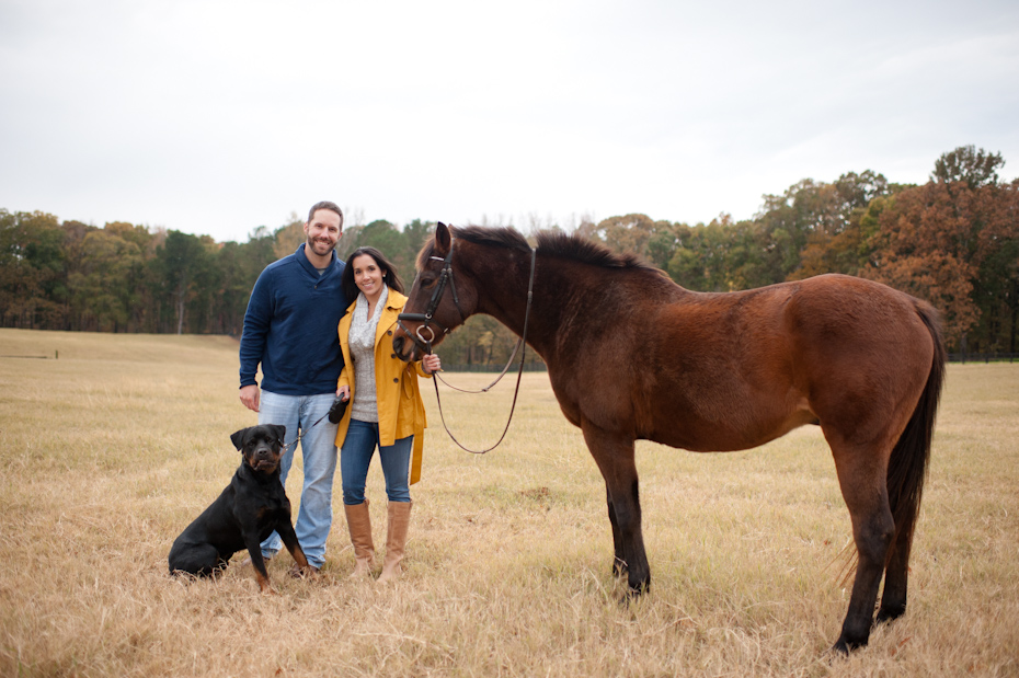 Family Photo with horse and dog
