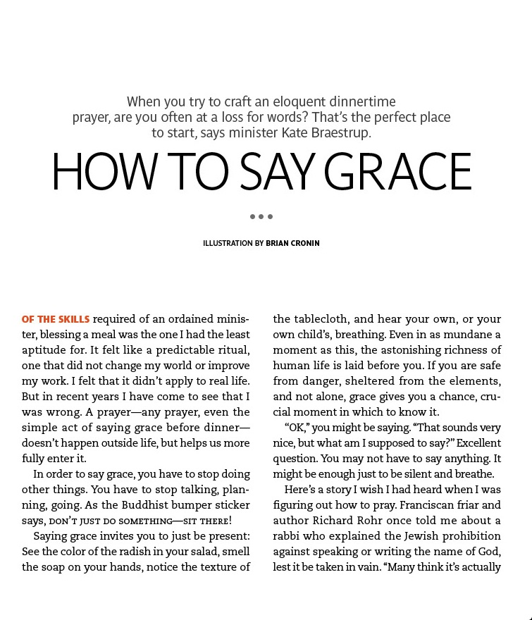 Real Simple how to say grace